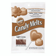 Light Cocoa Candy Melts 12oz. Wilton