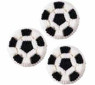 Soccer Ball Icing Decorations 9ct. Wilton