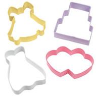 4 pc. Wedding Theme Cookie Cutter Set Wilton