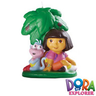 Dora the Explorer & Boots Candle Wilton
