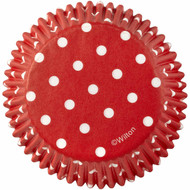BAKING CUPS DOTS RED 75CT