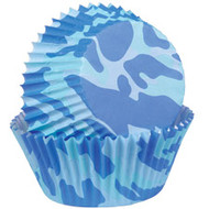 Blue Camo Cupcake Baking Cups 75ct Wilton