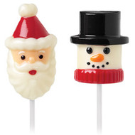 Snowman and Santa Marshmallow Pop Mold Wilton