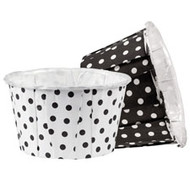 Black White Dots Standard Nut Cups 16ct Wilton
