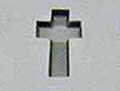 Rubber Candy Mold Cross Voorhees