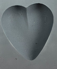 RUBBER CANDY MOLD HEART