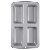 Cake Pan Mini Loaf 4-Cavity Non Stick Wilton