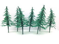 CAKE DECO PINE TREE GREEN 6 CT.