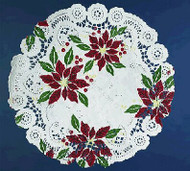 DOILIES POINSETTIA DESIGN 6 IN.