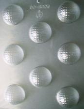 MOLD GOLF BALLS x8