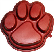 Fanpan Silicone Large Red Paw Print