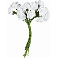 Ribbon Roses White