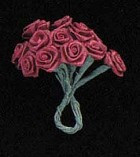 Burgandy Ribbon Roses