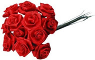 Ribbon Roses Red .75