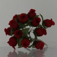 cloth rosebuds red