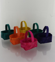 BASKETS MINI WOOD CHIP MULTI-COLORED 6 CT