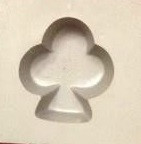 Club card Suit rubber mold