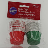 CANDY NUT CUPS RED/GREEN 24 CT