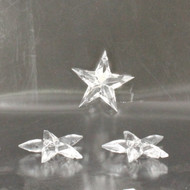 Acrylic crystal stars pack of 3