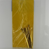 Party treat bags yellow w/ twist ties