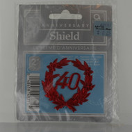 40th Red Foil Anniversary Shields