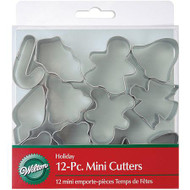 COOKIE CUTTERS MINI HOLIDAY 12 PIECE SET