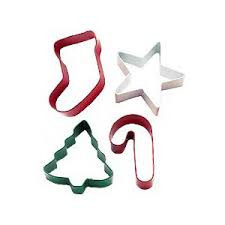 Jolly shape cookie cutters 4 pc