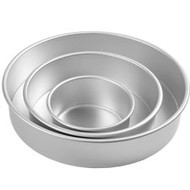 "Cake pan set round 3"" 3-pc"