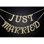 BANNER JUST MARRIED DAVID TUTERA