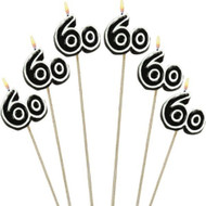 60TH CANDLE PICKS 6 PCS