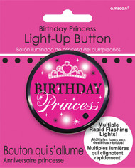 BUTTON BIRTHDAY PRINCESS LIGHT UP