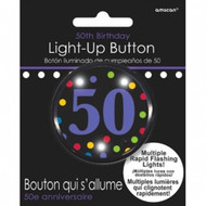 BUTTON 50TH BIRTHDAY LIGHT-UP
