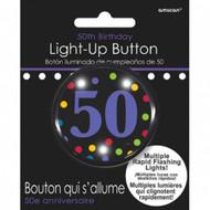 BUTTON 50TH BIRTHDAY LIGHT-UP