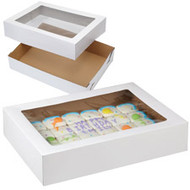 CAKE BOX CORRUGATED WINDOW 19 X 14