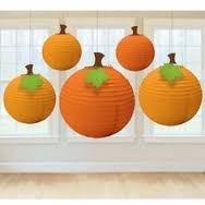 LANTERNS PUMPKIN X 5