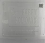 MOLD CARD HAPPY HOLIDAYS