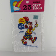 PARTY TREAT BAGS CLOWN HAPPY BIRTHDAY 25 CT