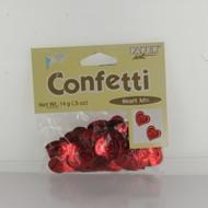 CONFETTI HEART MIX RED