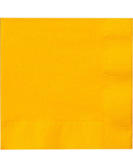 BEV NAPKINS 50 CT YELLOW SCH