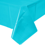 "TABLECOVER PLASTIC 54 X 108"" BERMUDA BLUE"