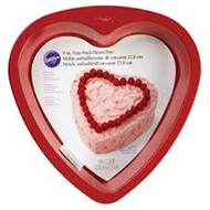 "CAKE PAN HEART 9"" RED"