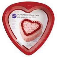 "CAKE PAN HEART 9"" RED"