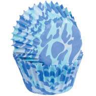 BAKING CUPS MINI CAMO BLUE 100 CT