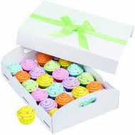 CUPCAKE FOLDING TRAY WHITE 1 CT