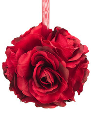 "ROSE KISSING BALL  4.5""  RED"