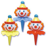 PICKS 3-D CLOWN HEADSX3
