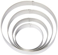 COOKIE CUTTER SET CIRCLE METAL 4 CT