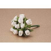 CLOTH ROSEBUD CREAM x12
