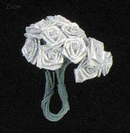 RIBBON ROSE SILVER X12