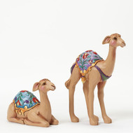 HWC4041089 GATHERED IN HIS NAME SET/2 MINI CAMELS NATIVITY